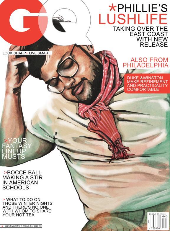 gq magazine cover template - phillie sunflowerman