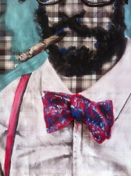 bow tie and cigar painting