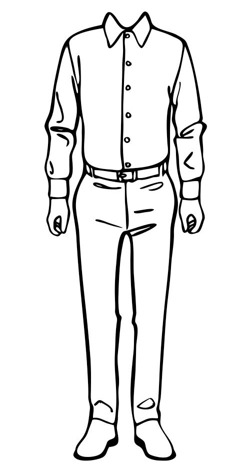 Costume Design Template Business Man